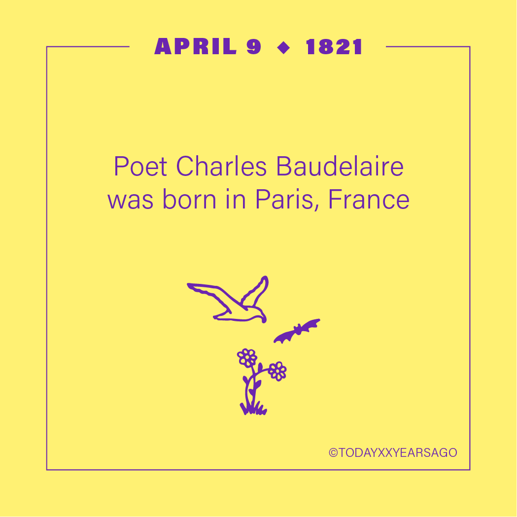 April 9 Charles Beaudelaire Paris