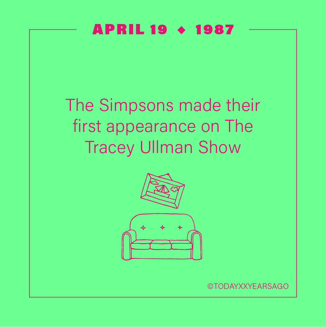 April 19 The Simpsons First Appearance The Tracy Ullman Show