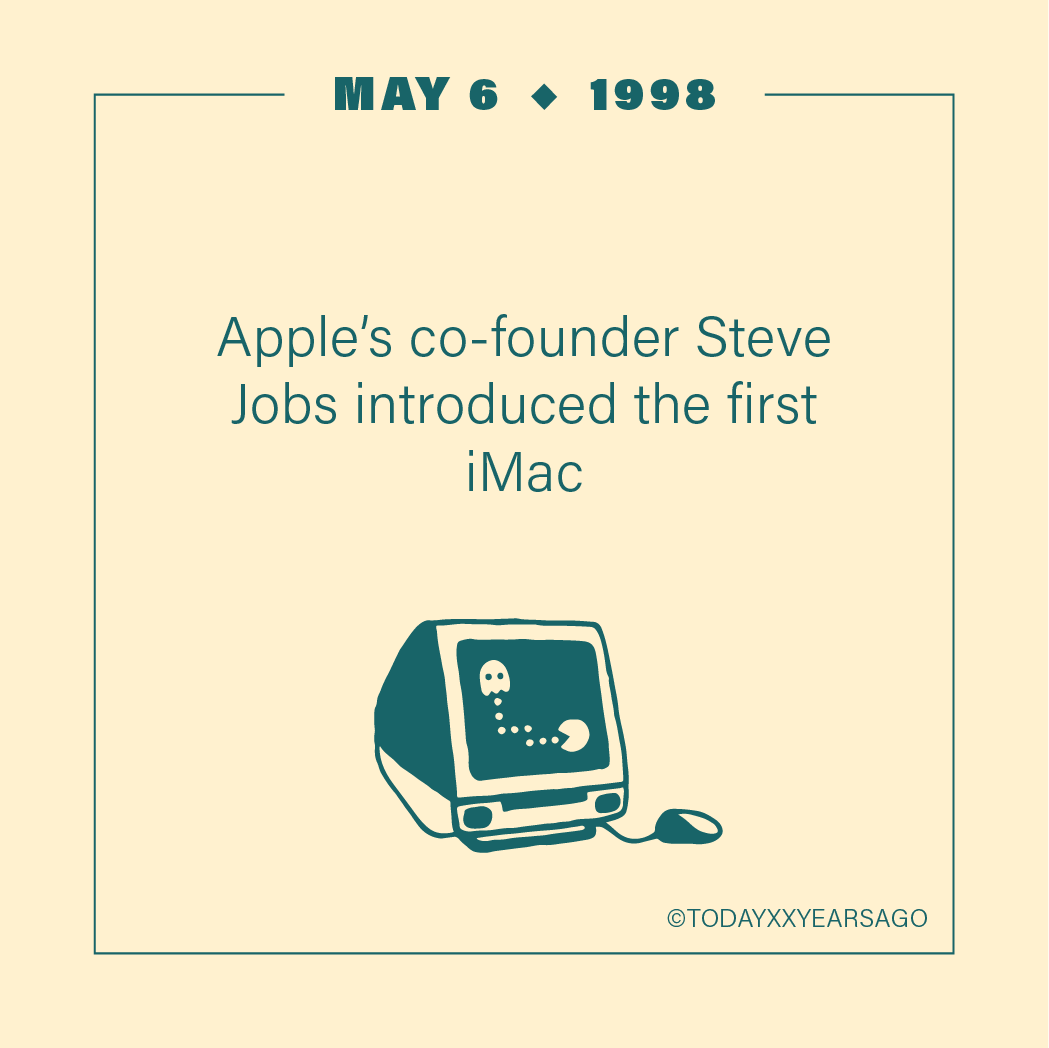 May 6 Apple Co-founder Steve Jobs Introduction First iMac