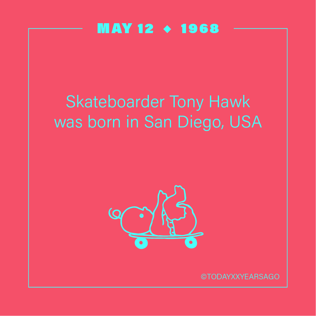 May 12 Skateboarder Tony Hawk San Diego