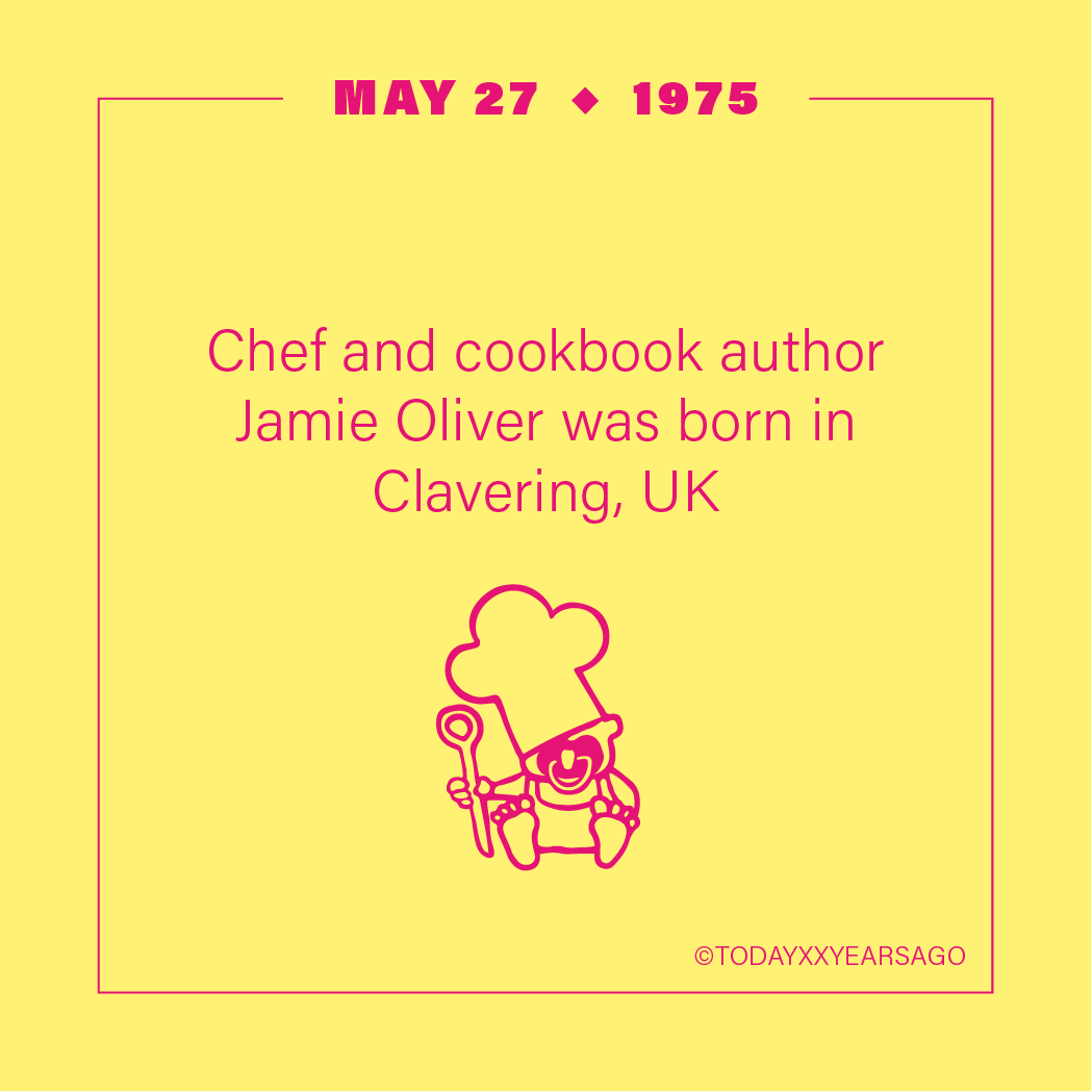 May 27 Chef Cookbook Author Jamie Oliver Clavering UK