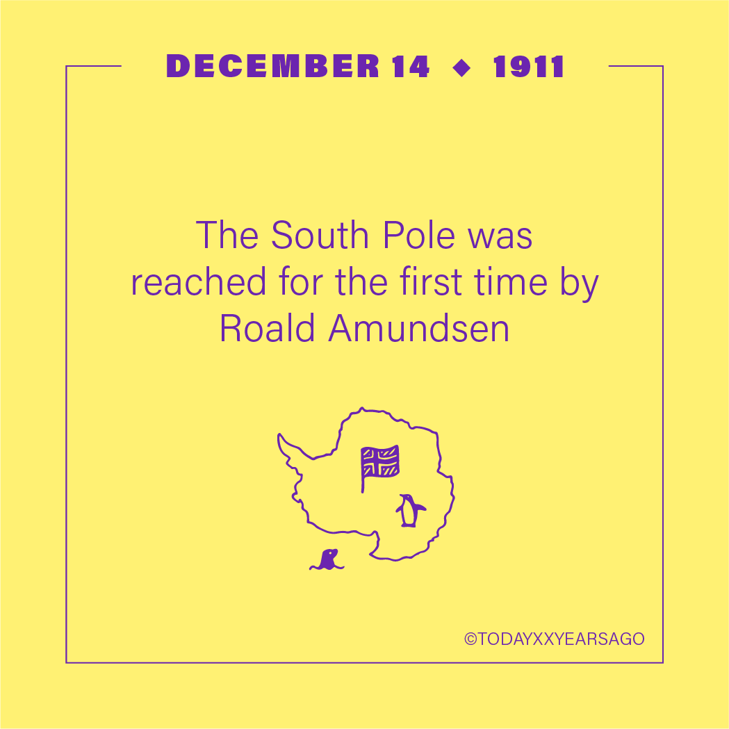 South Pole Reached For First Time Roald Amundsen