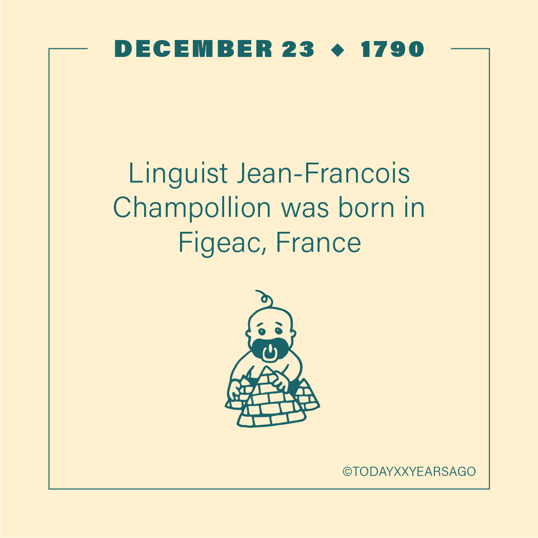 Linguist Francois Champolion Birthday