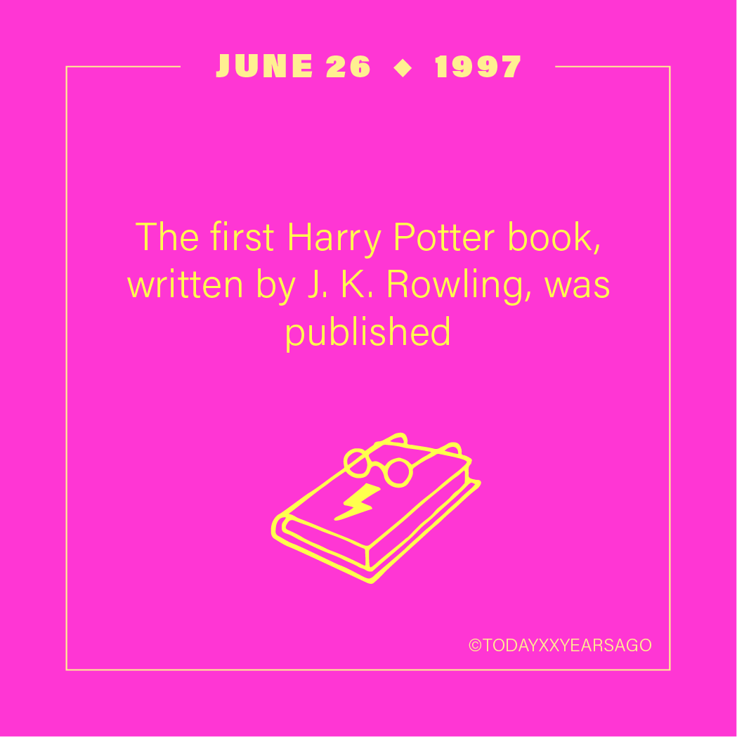 First Harry Potter Book J K Rowling Release