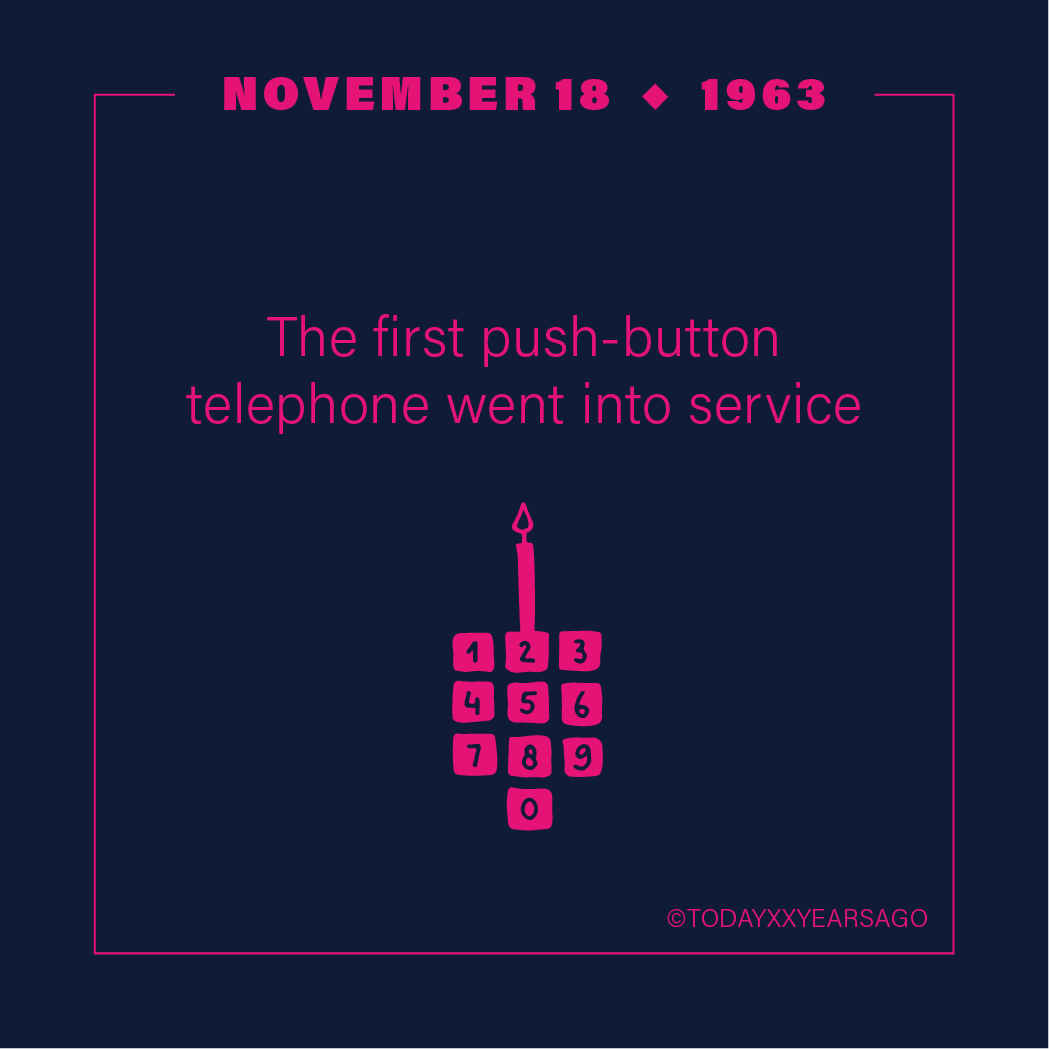 First Push Button Telephone