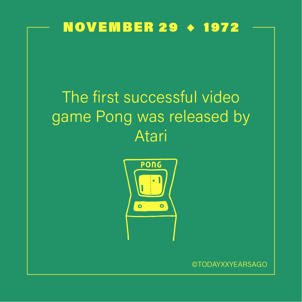 First Video Game Pong Atari Release