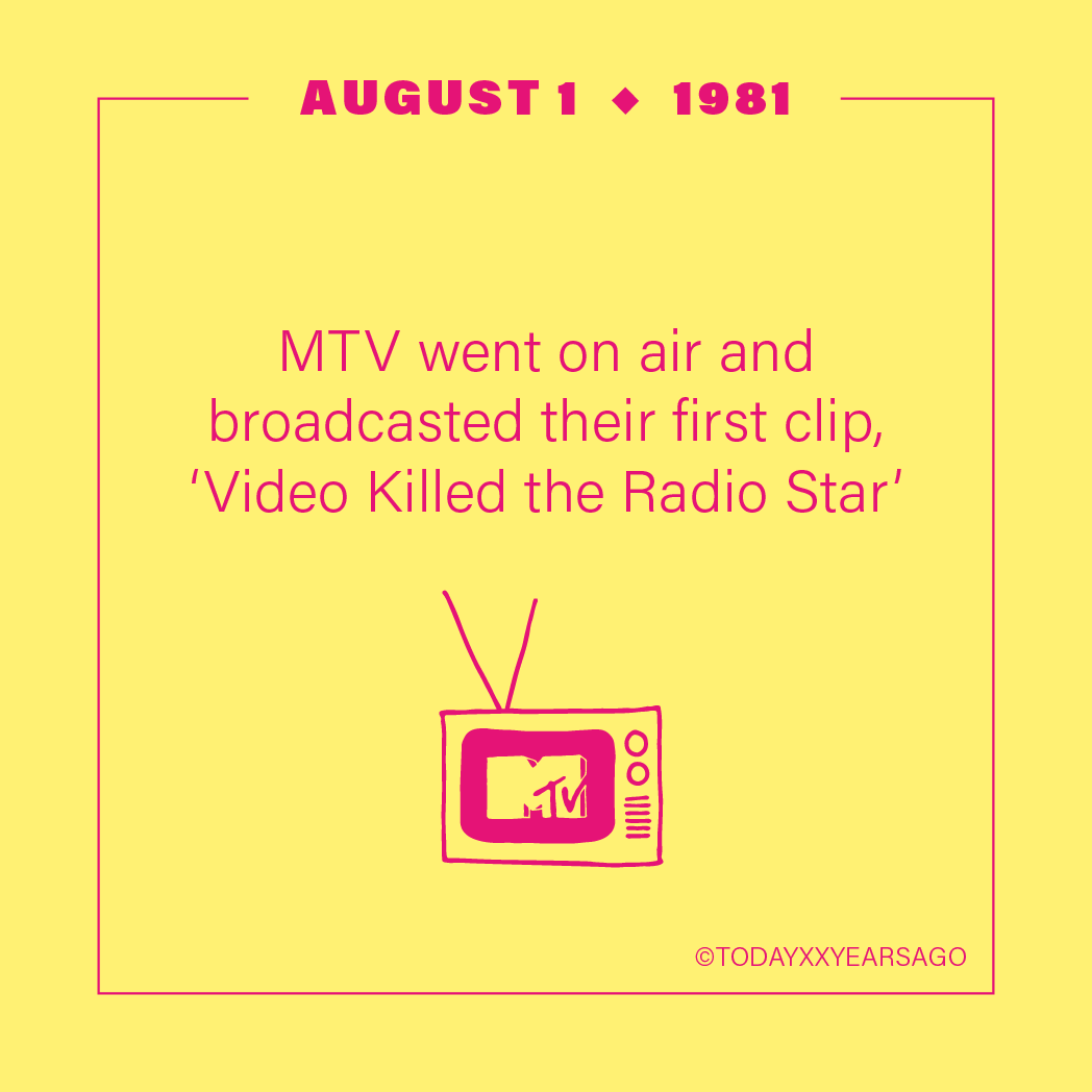 MTV On Air Broadcasted First Clip Video Killed the Radio Star