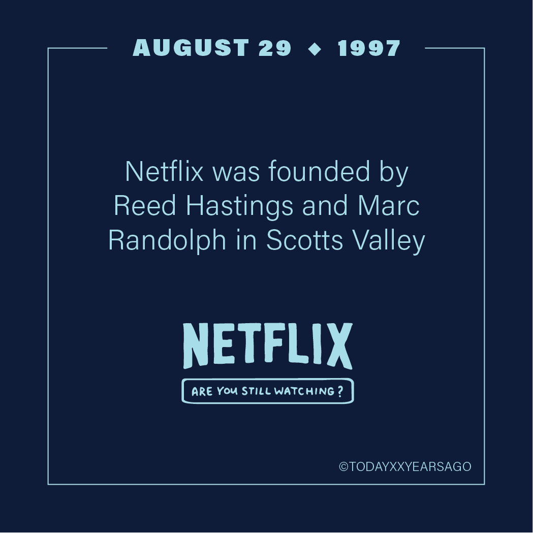 Netflix Founded Reed Hastings Marc Randolph Scotts Valley