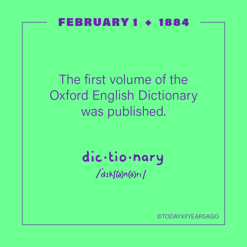 First Volume Oxford English Dictionary Publication