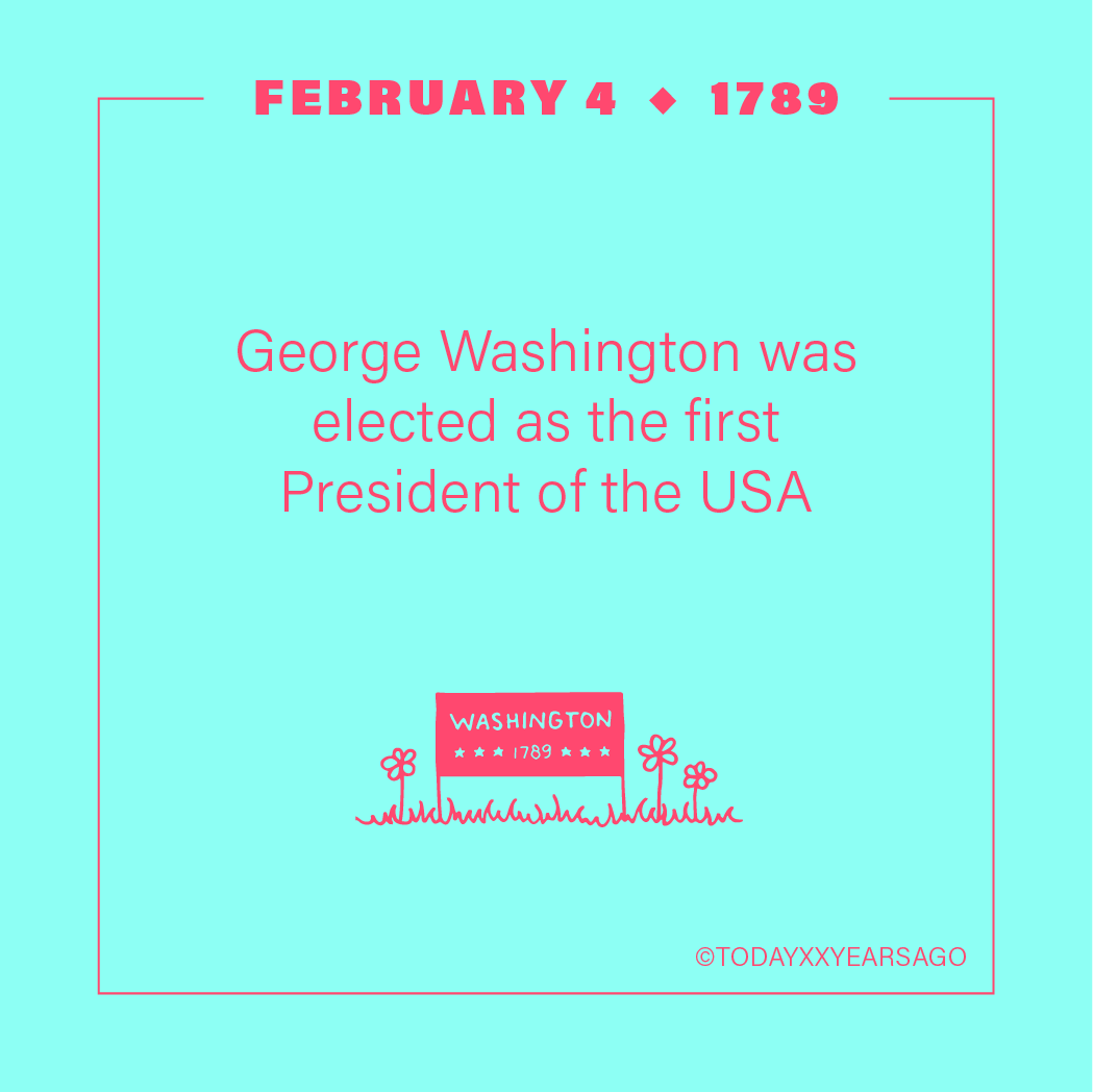 George Washington Elected as the First President of the USA