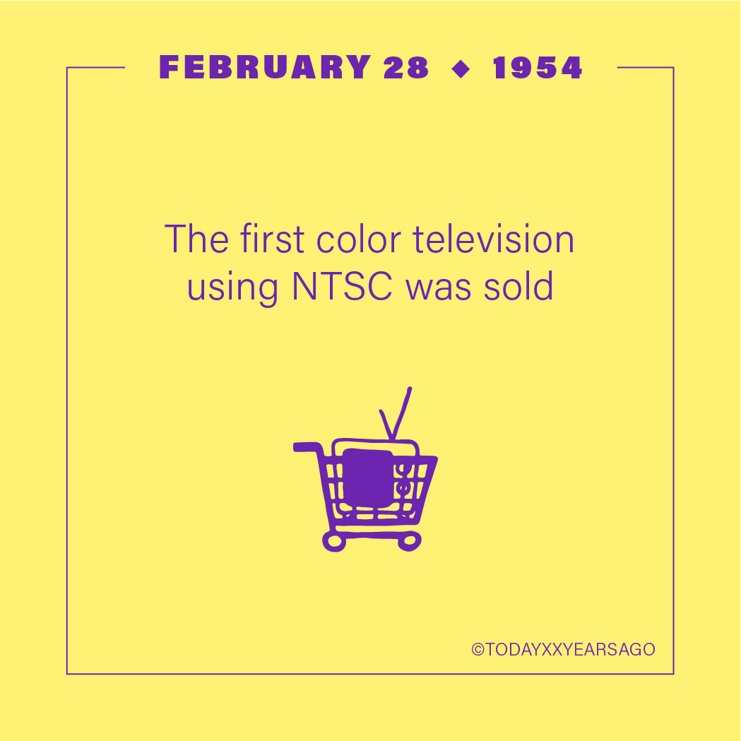 First color Television Using NTSC Sold