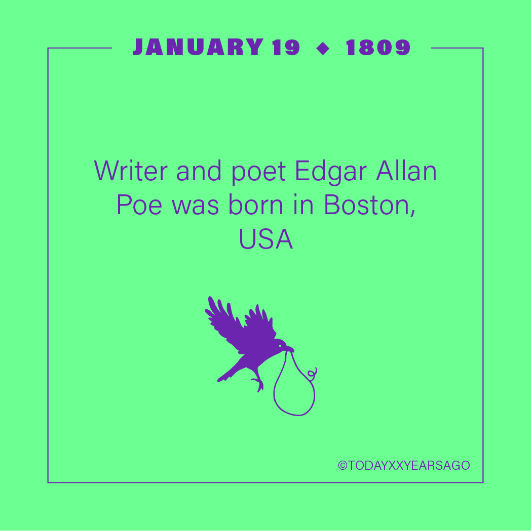 Writer Poet Edgar Allan Poe Birthday