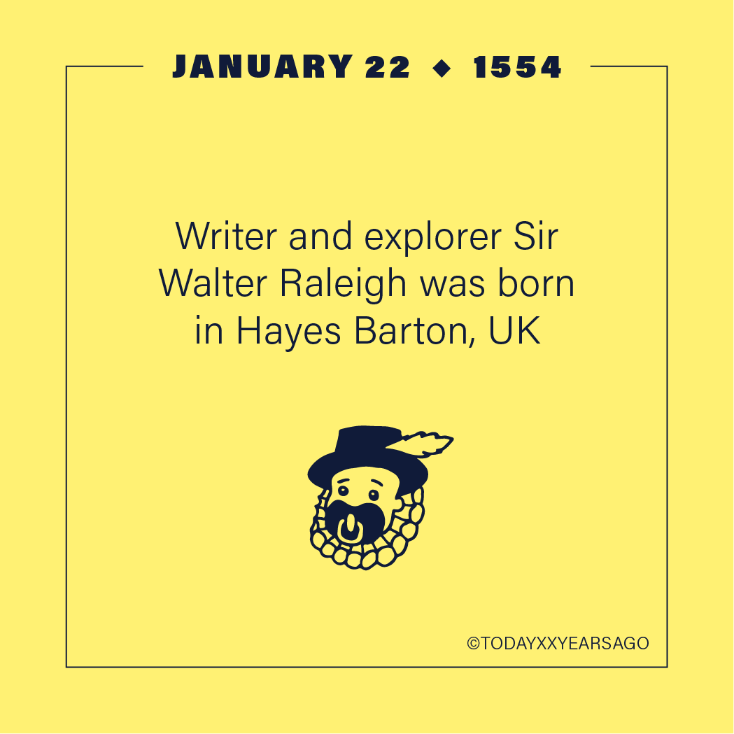 Writer Explorer Sir Walter Raleigh Birthday