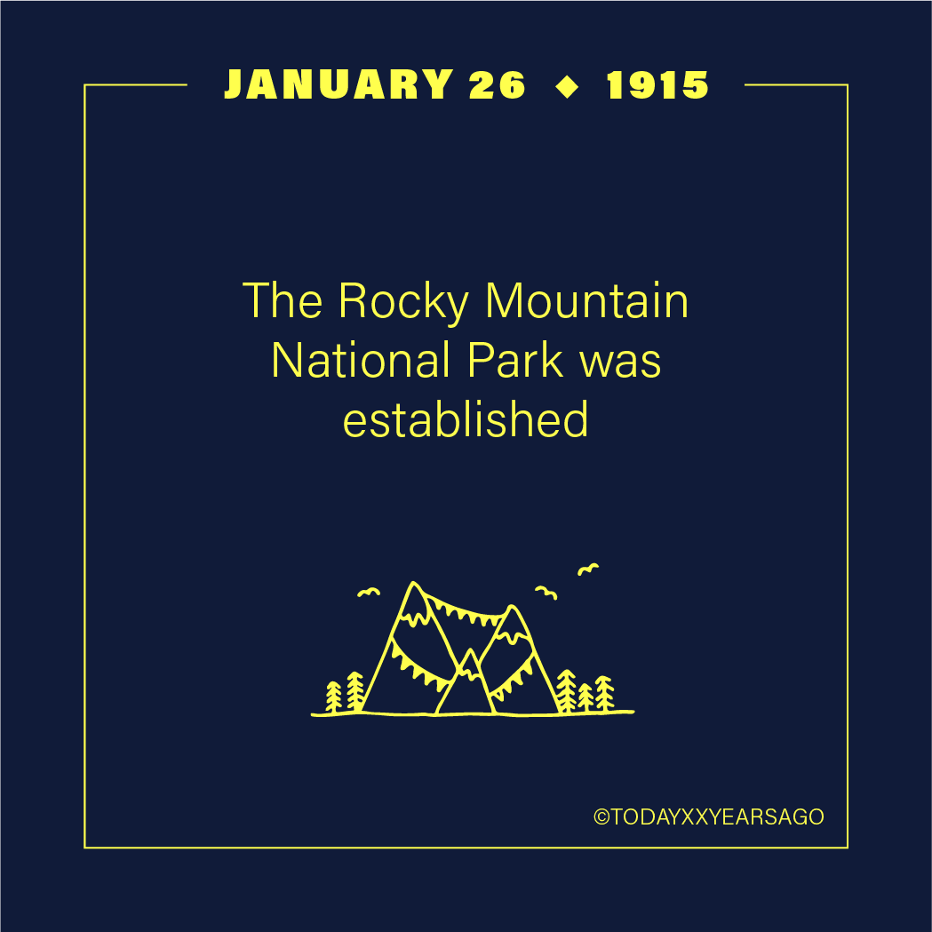 The Rocky Mountain National Park Established