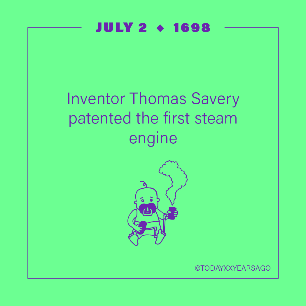 Inventor Thomas Savery Patented First Steam Engine
