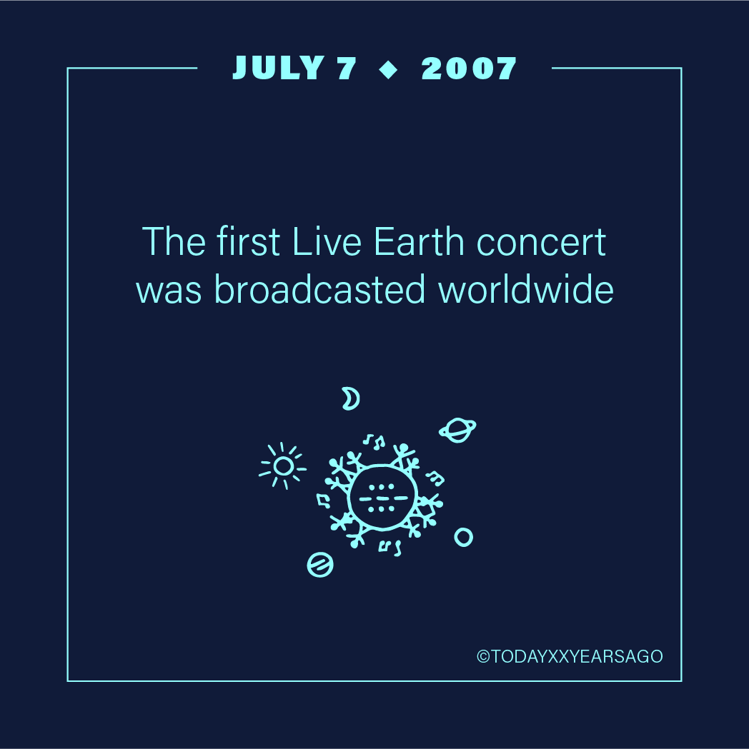 First Live Earth Concert Broadcast Worldwide