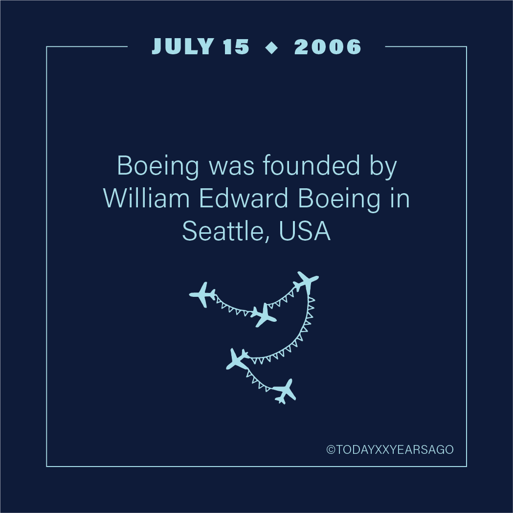 Boeing Founded By William Edward Boeing Seattle