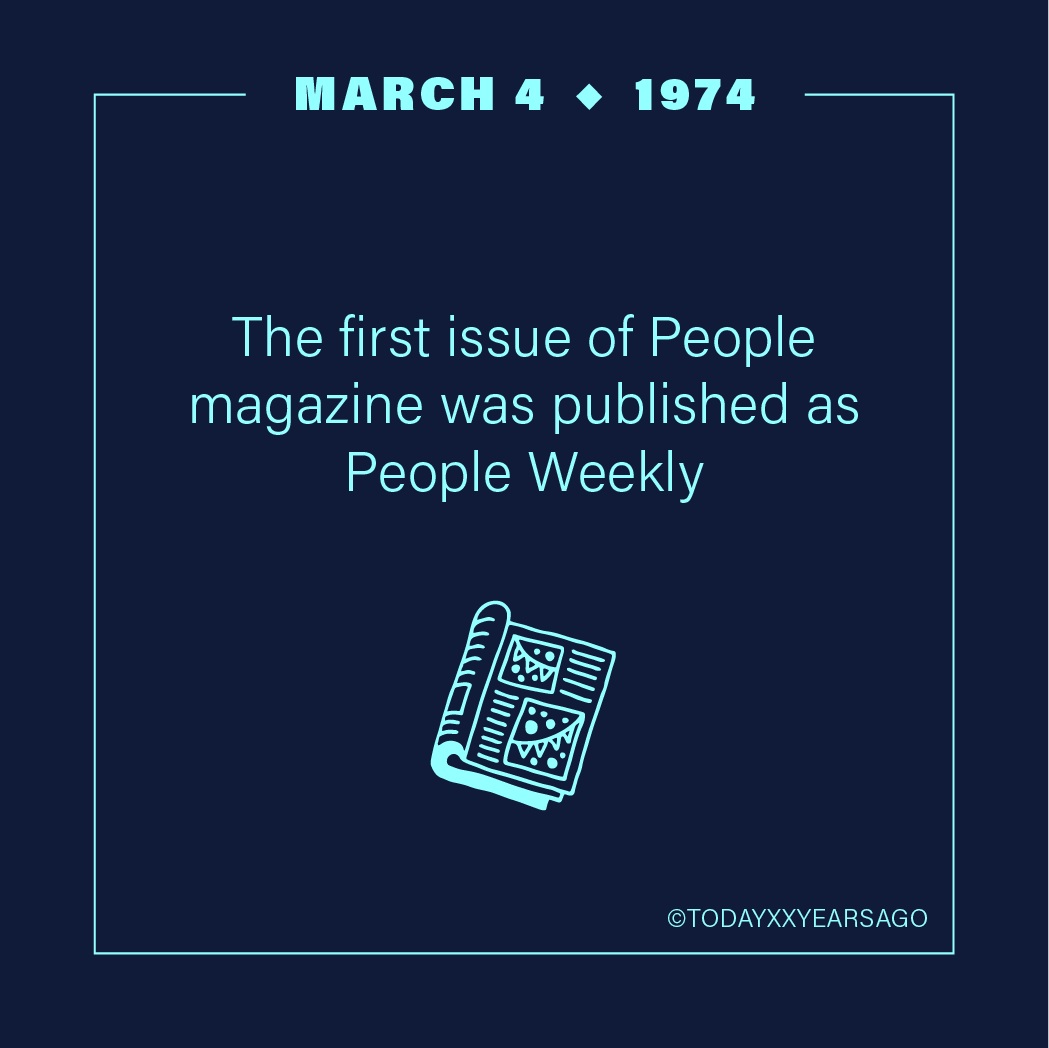 First Issue of People Magazine Published as People Weekly