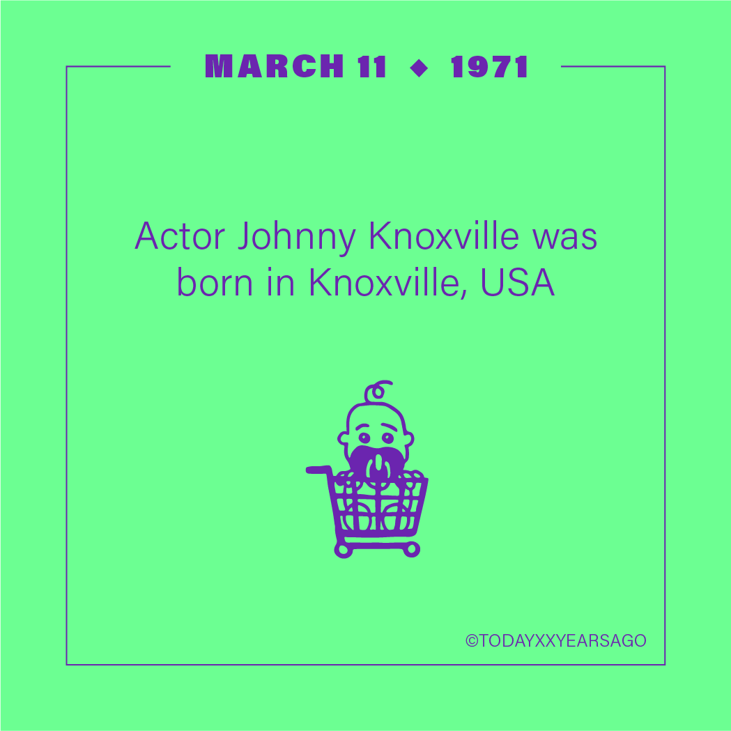 Actor Johnny Knoxville Birthday