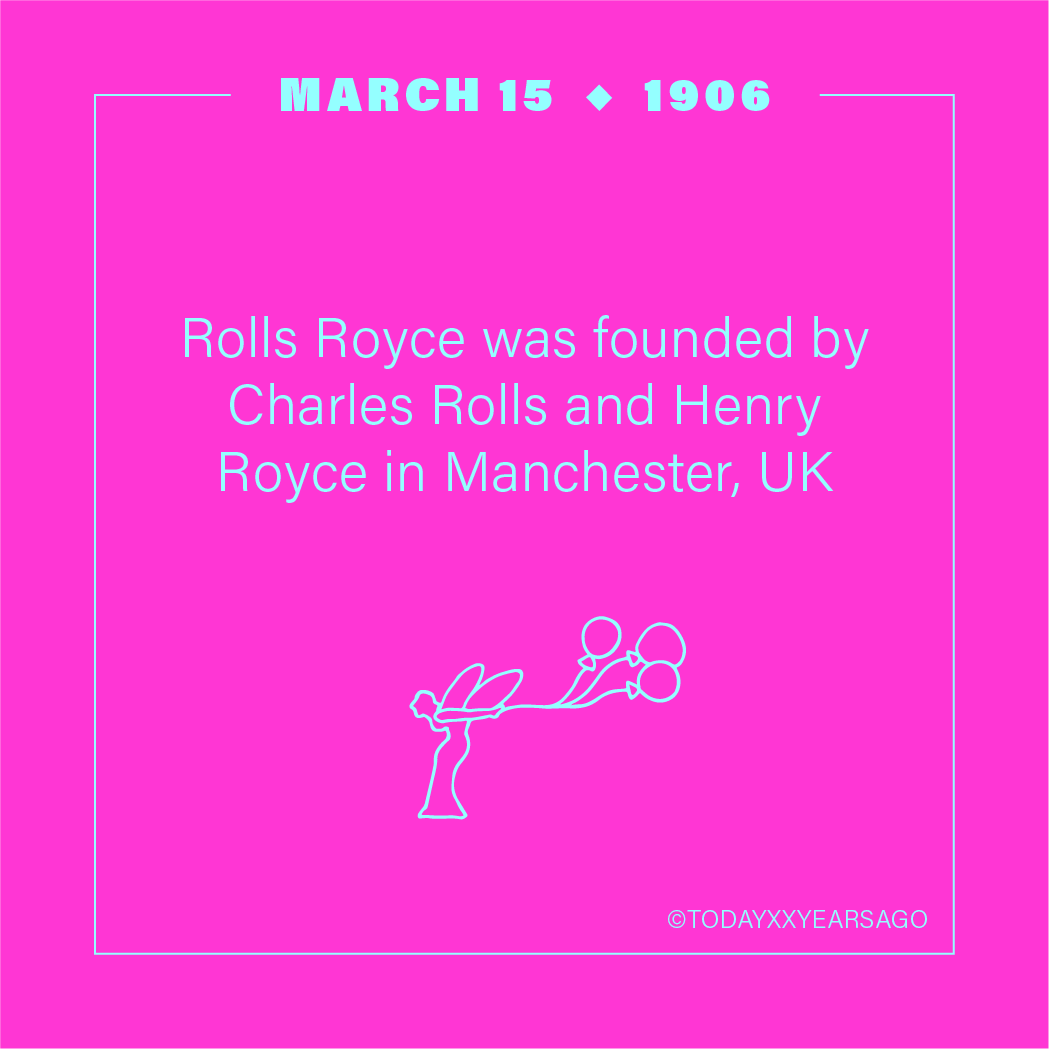 Rolls Royce Founded By Charles Rolls Henry Royce Manchester UK