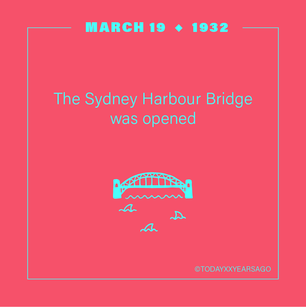 The Sydney Harbour Bridge Opened