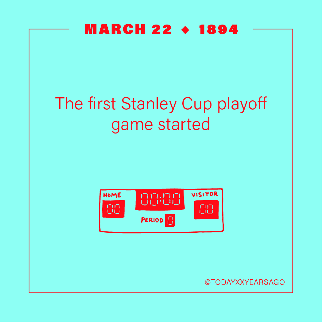 First Stanley Cup Playoff Game Started