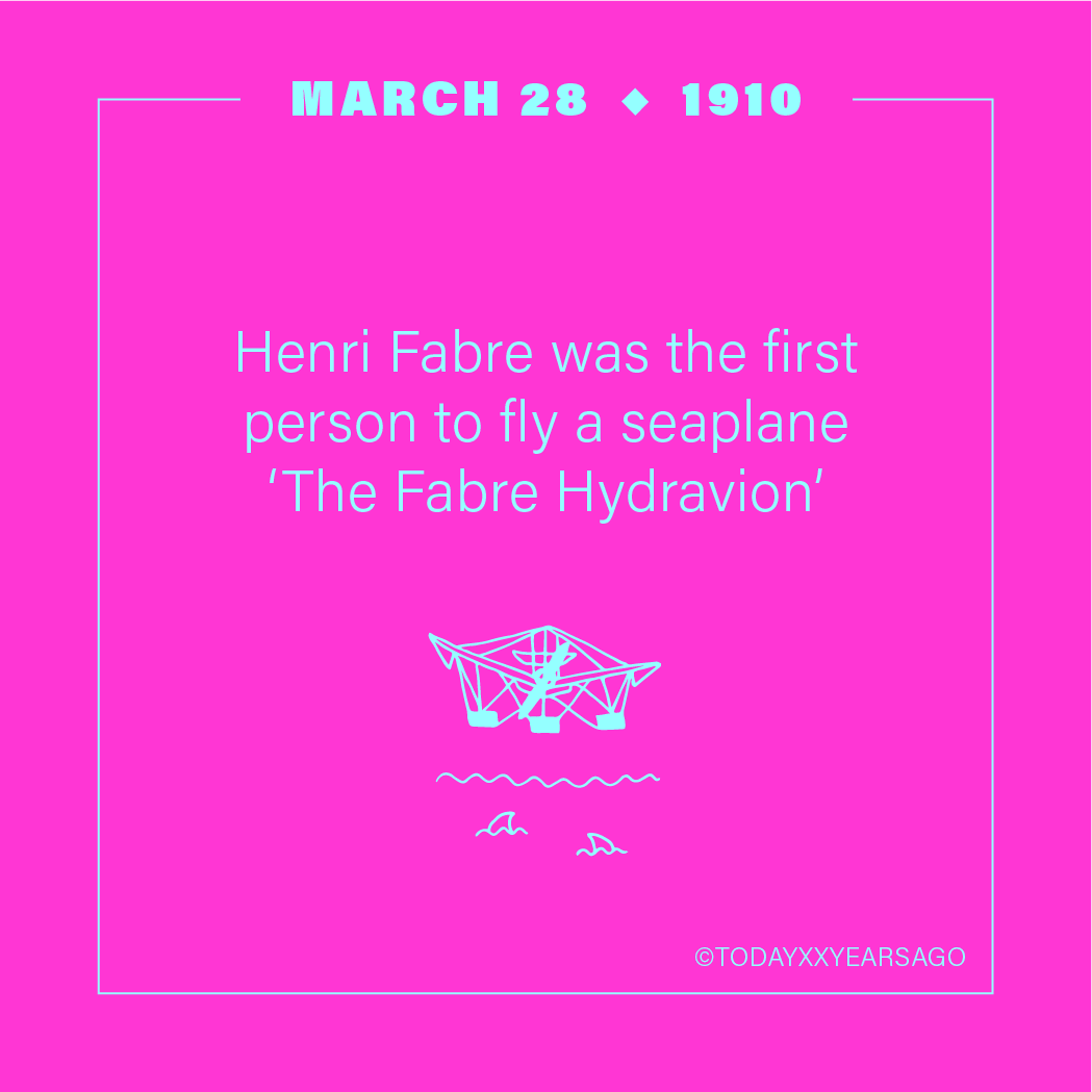 Henri Fabre First Person to Fly Seaplane The Fabre Hydravion