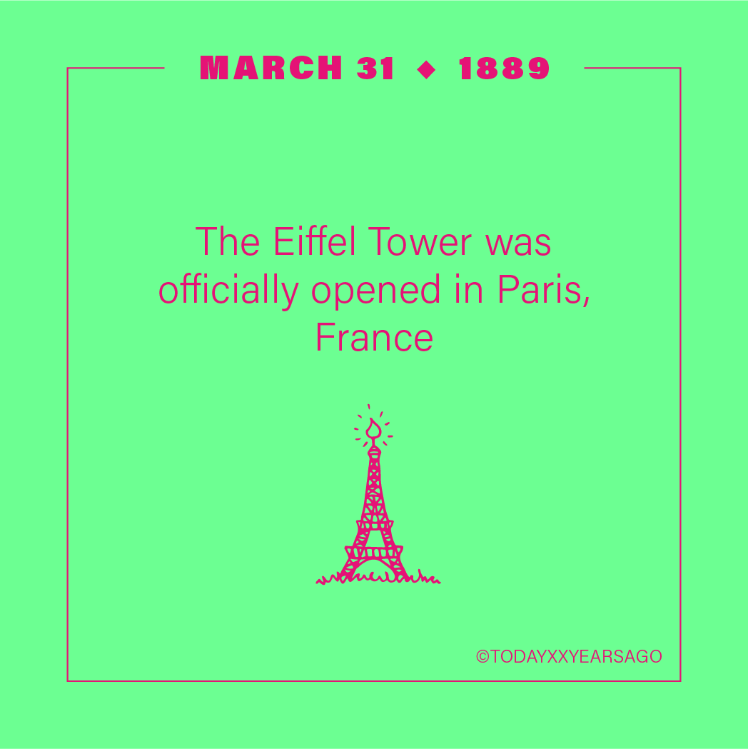 The Eiffel Tower Officially Opening Paris France