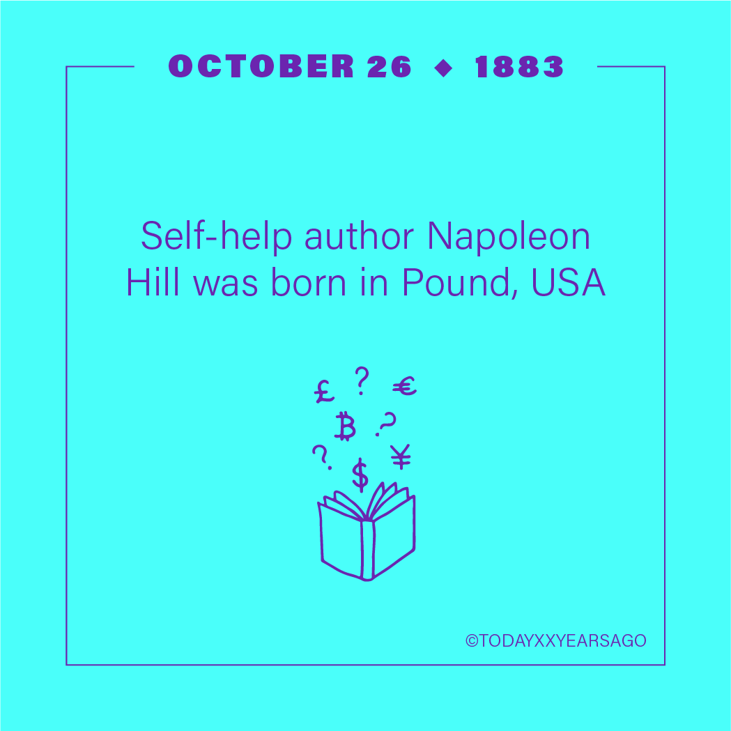 Self Help Book Author Napoleon Hill Birthday