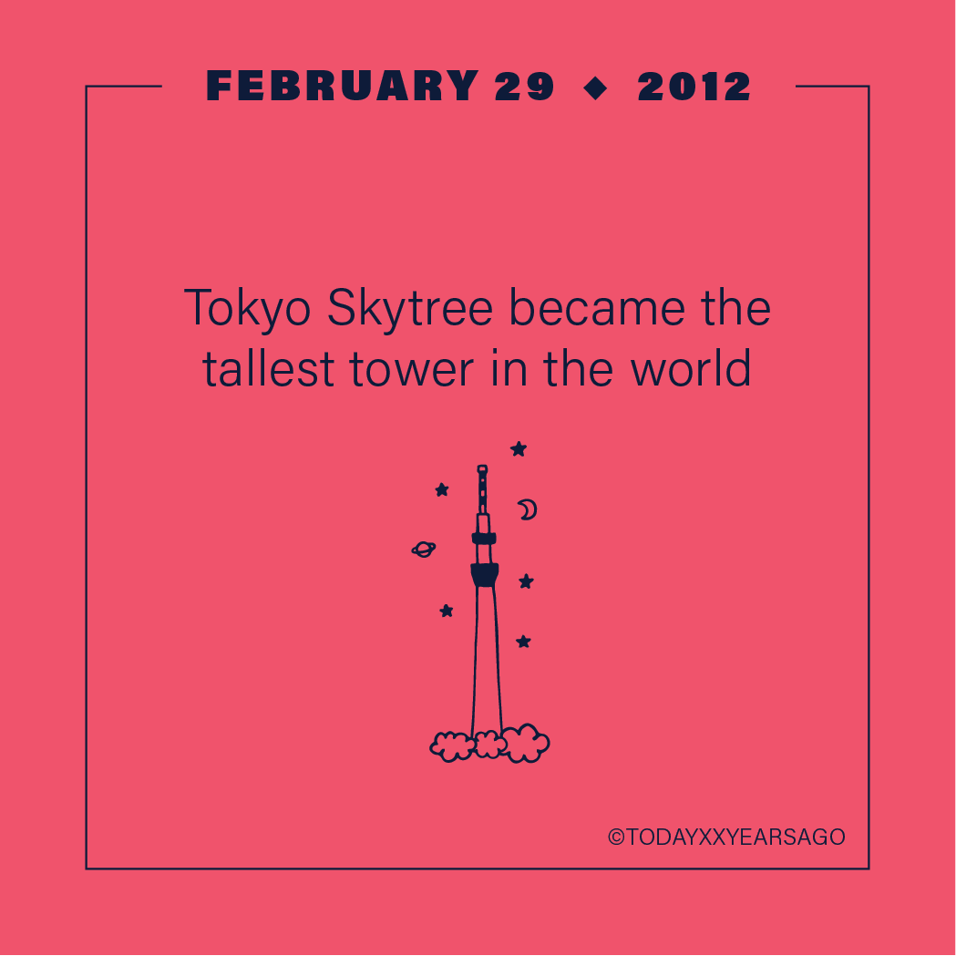 Tokyo Skytree Became the Tallest Tower in the World